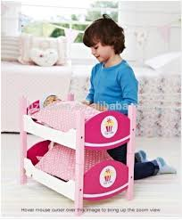 selling pretend play wooden doll furniture doll bunk beds