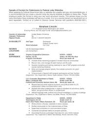 Resume For Government Job