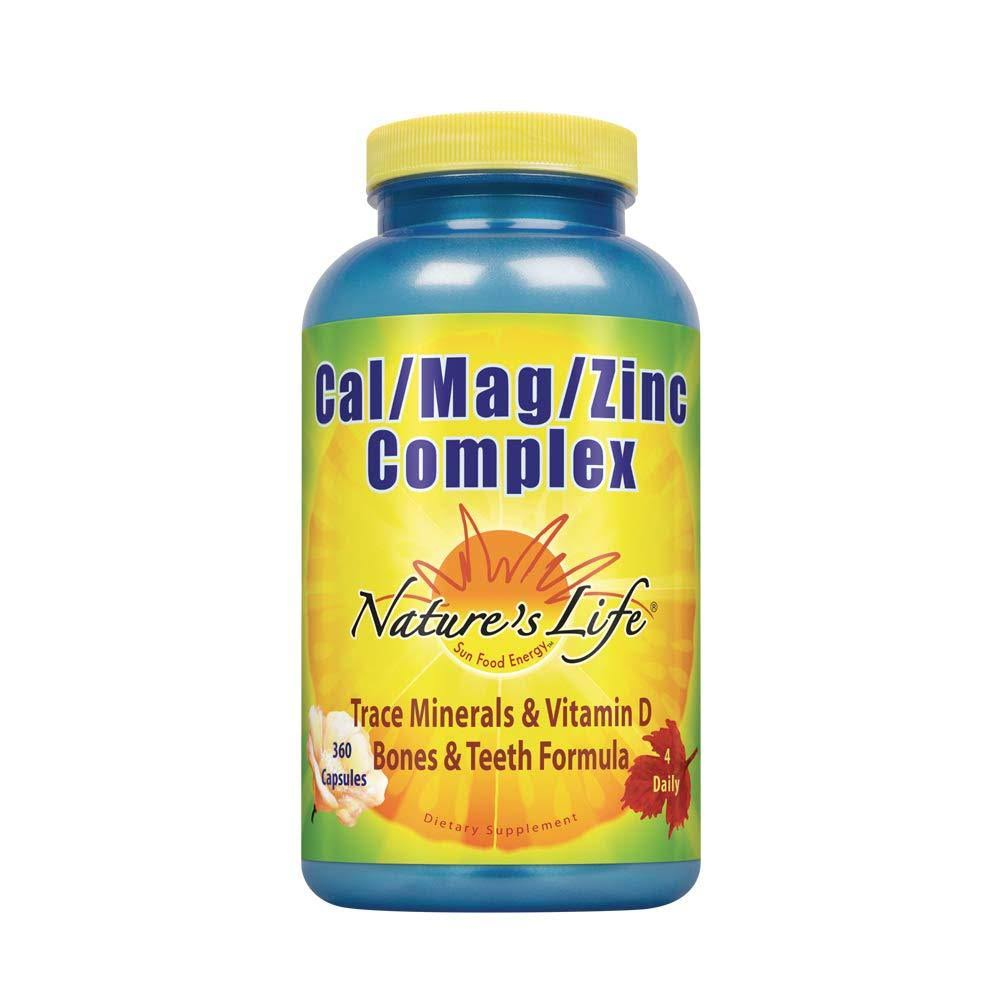 Nature's Life Cal/Mag/Zinc Dietary Supplement - 1000/600/15mg, 360ct