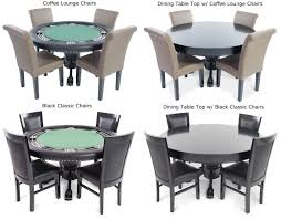 55 Nighthawk Round Poker Table With Wood Legs 4 Colors