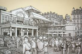 Finally finished my ink drawing of Covent garden Markets London