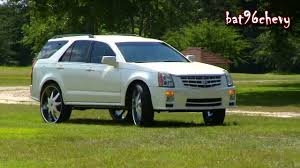 Pearl White Cadillac SRX Truck On 28