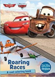 Roaring Races Coloring Book Disney Pixar Cars Planes Color Fun