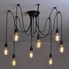 modern nordic retro edison bulb light chandelier vintage loft