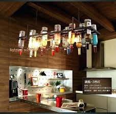 New Wine Bottle Pendant Light Bulb Fixtures Recycled Retro Hanging Lamps With
