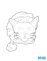 Cat Hat Coloring Page Wearing A In The Pages Momjunction Dr Seuss Full Size