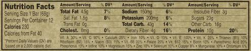 Clif Bar Nutrition Facts Chocolate Brownie Besto Blog Source