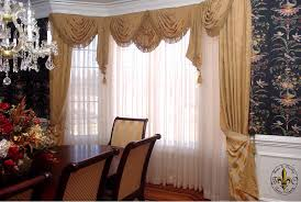 Living Room Curtain Ideas For Bay Windows by Interior Windows Treatments Ideas Double Curtain Dining Room