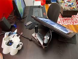 Lx Desk Mount Lcd Arm Cintiq by 152 Best Workspace Images On Pinterest Office Spaces Desk Setup