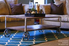Build Large Coffee Table by Ana White Easy Industrial Coffee Table Pneumatic Addict