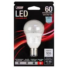 feit a15 60 watt dimmable led light bulb intermediate base clear