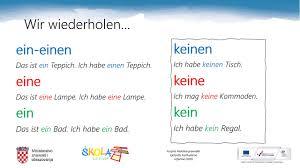 njemački jezik 7 r ein kein ja nein