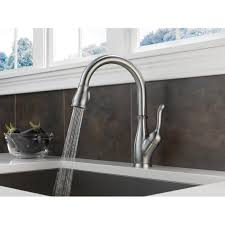 Delta Leland Kitchen Faucet Manual by Delta 9178 Ar Dst Leland Pull Down Spray Kitchen Faucet With