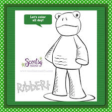 Print Off This Scentsy Buddy Coloring Page From Wicklessmolly To Just