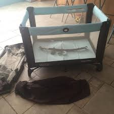 Co Sleepers That Attach To Bed by Find More Graco Pack And Play Teal And Brown Comes With Mobile
