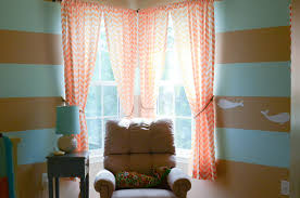 wall decor pretty pink chevron curtains with horizontal brown and