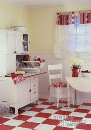 Red White Vintage Kitchen