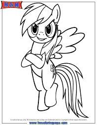 Rainbow Dash Cute Coloring Pages Printable 76 Best Poni Images