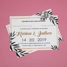 80 Convites De Casamento Barato Envelope Carta Preto Dourado