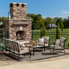 Fred Meyer Patio Furniture Covers by La Z Boy Outdoor Emerson 4 Pc Seating Set Oatmeal