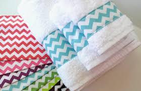 Gray Chevron Bathroom Set by You Pick Color Set Of Chevron Towels Custom Towels Bathroom