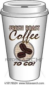 Clipart Of Coffee To Go Cup Design Fresh Roast K18178524