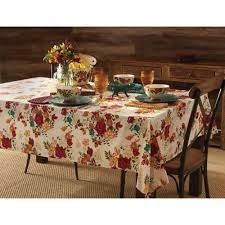 Walmart Rooster Kitchen Curtains by Pioneer Woman Timeless Floral Tablecloth Walmart Com