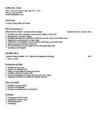 Teller Resume Examples Customer Care Cashier Objective