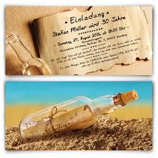 Hochzeitseinladungen Flaschenpost Sand Strand Post Brief Nachricht