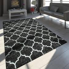 teppich marokkanisches muster schwarz gold
