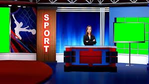 Sports 014 TV Studio Set Virtual Green Screen Background PSD