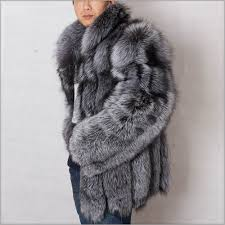 china supplier men fox fur coat winter real silver fox fur coat