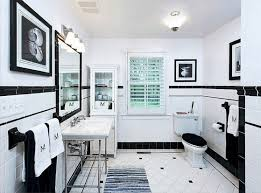 black and white floor tile bathroom white wall mounted sink white