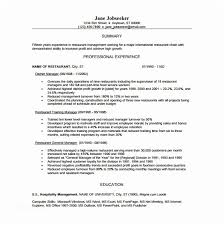 Restaurant Manager Resume Sample Template 13 Free Word Excel Pdf Format Of
