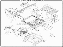 Ryobi Tile Saw Blade by Ryobi Ws722 Parts List And Diagram Ereplacementparts Com