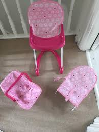 CHAD VALLEY BABY DOLL CAR SEAT HIGHCHAIR AND BOUNCER | In Worcester Park,  London | Gumtree Little Tikes Pink Doll High Chair Child Size 24 Babykids Fisher Price Loving Family Dream Dollhouse Blue Baby Dolls Twins Highchair Twin Dinner Time Nenuco Annabell Cabbage Patch Kids Get A New You Me High Chair Unboxing Heather Lot Vintage 1940s Wicker Highchair Painted Levatoy Deluxe Chad Valley Baby Doll Car Seat Highchair And Bouncer In Worcester Park Ldon Gumtree Children Nursery For Barby Olivias World Modern Nordic Qvccom Toy Baby Details About Renwal Five Piece Nursery Set Plastic