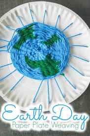 Earth Day Paper Plate Weaving