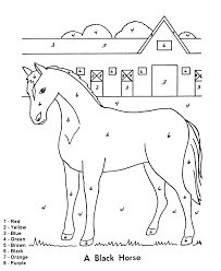 Color By Number Coloring Page