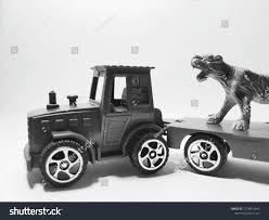 100 Toy Farm Trucks And Trailers Green Tractor Trailer Friction Children Stock Photo