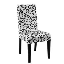 Stretchy Dining Chair Cover Short Chair Covers Washable Protector Seat  Slipcover For Wedding Party Restaurant Banquet Home Decor (White + Black) -  ... Hudson Kids Table And Chairs Set Coverking Rnohide Customfit Seat Covers Farmhouse Rustic Holiday Birch Lane Eames Lounge Chair Ottoman Herman Miller Christmas Colour Schemes To Brighten Up Your Home Heritage Cafe Ding Pages A Colorful Adjustable By Vanguard Industries 23 White Decorating Ideas From A Romantic Nordic Centiar Room Ashley Fniture Homestore