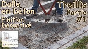 faire une dalle exterieur faire une dalle en béton béton désactivé 1 treillis
