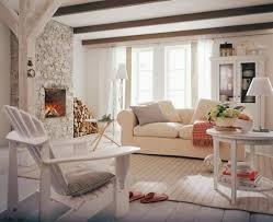 White Rustic Living Room