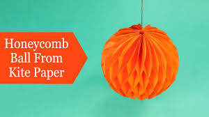 Honeycomb Paper Balls Craft