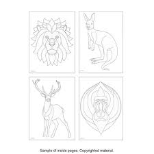 TangleEasy Wildlife Designs Coloring Book