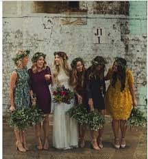 These 20 Beautiful Bridal Parties Are Totally Nailing The Mismatched Bridesmaid Trend