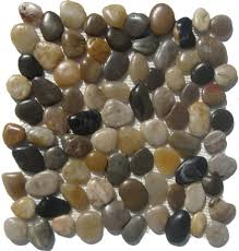 Sliced Pebble Tile Canada by Mixed Natural Mosaic Pebble Stone Tile 1 Sq Ft Limestone Tiles
