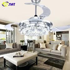 Dining Room Ceiling Fan Led Fans Crystal Light Living Modern
