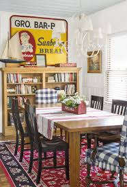 85 Inspired Ideas For Dining Room Decorating | Country | Cottage ... Christmas Lunch Laid On Farmhouse Table With Gingham Tablecloth And Rustic Country Ding Room With Wooden Table And Black Chairs 100 Cotton Gingham Check Square Seat Pad Outdoor Kitchen Chair Cushion 14 X 15 Beige French Lauras Refresh A Beautiful Mess Bglovin Black White Curtains Home Is Where The Heart Queen Anne Ding Chairs Painted Craig Rose Pale Mortlake Cream Laura Ashley Gingham Dark Linen In Cinderford Gloucestershire Gumtree 5 Top Tips For Furnishing Your Sylvias Makeover Emily Henderson