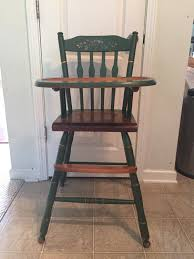 Hitchcock High Chair, Vintage Wooden High Chair, Jenny Lind ...