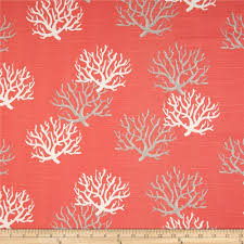 Curtain Fabric By The Yard by Premier Prints Isadella Coral Slub Salmon Discount Designer